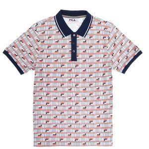FILA Men's GIANNI All Over Print LOGO Polo Shirt